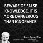 False Knowledge is Dangerous
